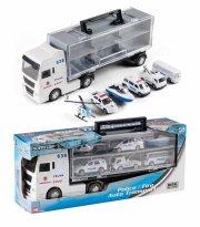 politibil legetøj - politi transporter med 6 fartøjer - Køretøjer Og Fly