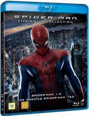 spider-man 1-3 + the amazing spider-man 1+2 - Blu-Ray