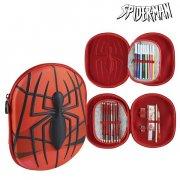 spiderman tripple penalhus i rød  - Skole