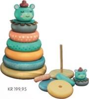 stabeltårn - forest friends - stacking teddy - Babylegetøj