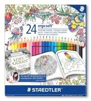 staedtler ergosoft farveblyanter johanna basford edition - 24 stk. - Kreativitet