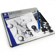 staedtler mars lumograph blyanter i metalæske - 24 stk. - Kreativitet