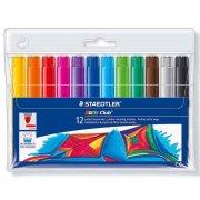 staedtler - noris club jumbo fibre pens, 12 pcs (340vp12) - Kreativitet
