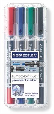 staedtler permanent marker - lumocolor duo - 4 stk - Kreativitet