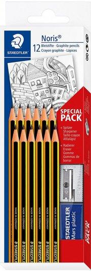 staedtler blyanter med tilbehør - 12 stk. - Skole