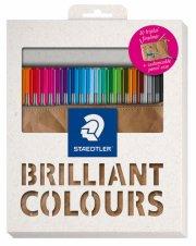 staedtler triplus fineliner - brilliant colors - penalhus med 20 farvetuscher - Kreativitet