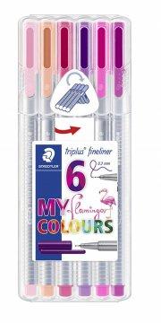 staedtler triplus fineliner flamingo - 6 stk - Kreativitet