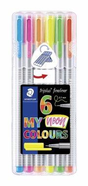 staedtler triplus fineliner neon - 6 stk - Kreativitet