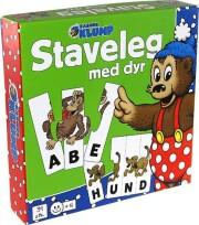 rasmus klump - staveleg med dyr - Brætspil