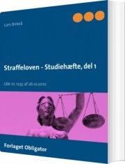 straffeloven - studiehæfte - bog