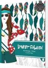 street fashion - coloring book - bog