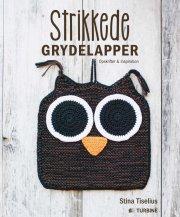 strikkede grydelapper - bog