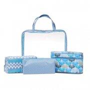 df9fa1d5bf7 studio - transparent cosmetic bag set - blue - Smykker Og Accessories