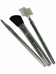 makeup børster - sty - sølv 3 stk - Makeup
