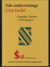sub-undervisnings c'est facile, franske verber - bog