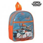 super wings skoletaske i blå og orange  - Skole