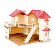 sylvanian families dukkehus - byhus med lys - Dukker