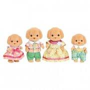 sylvanian families figurer - familien puddel - Dukker