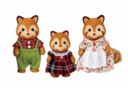 sylvanian families figurer - familien pandabjørn - Dukker