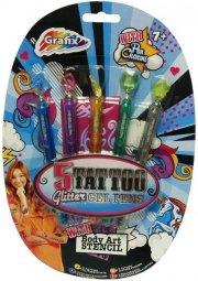 gel glitter pen - 5 stk - Kreativitet