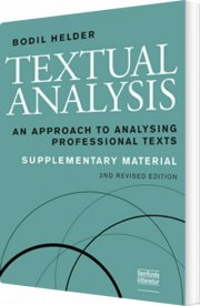textual analysis, supplementary material, 2. udgave - bog