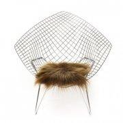 skind til stol - the organic sheep - 40 x 40 cm - brun - Til Boligen
