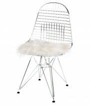 skind til stol - the organic sheep - 40 x 40 cm - hvid - Til Boligen