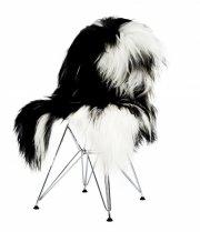 skind til stol - the organic sheep - 70 x 110 cm - plettet - Til Boligen