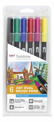 tombow dual brush pen 6 abt - primærfarver - Kreativitet