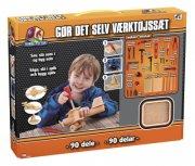 legetøjsværktøj sæt med 90 dele - Rolleleg