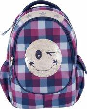 top model skoletaske - smiley palliet - blå - Skole