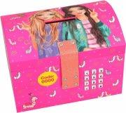 top model sparekiste med kode & musik alpaca - pink - Diverse