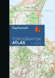 trap danmark topografisk atlas - bog