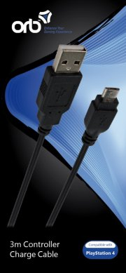 usb to micro usb 3m charge cable (orb) - Konsoller Og Tilbehør