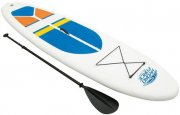 oppustelig stand up paddle board / sup 305 cm - white cap - Bade Og Strandlegetøj