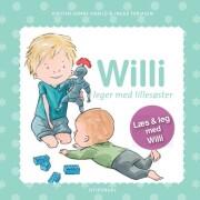 willi leger med lillesøster - bog