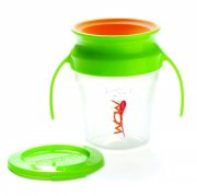wow spildfri kop / drikkekop til baby - grøn - Babyudstyr