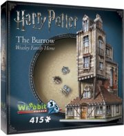 wrebbit 3d puzzle - harry potter: the burrow - weasley family home - Brætspil