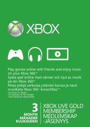 xbox live gold card (3 mth) (x360/xbox one) - xbox one