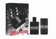 gaveæske: zadig & voltaire this is him edt 50 ml & deo stick 75 g - Parfume