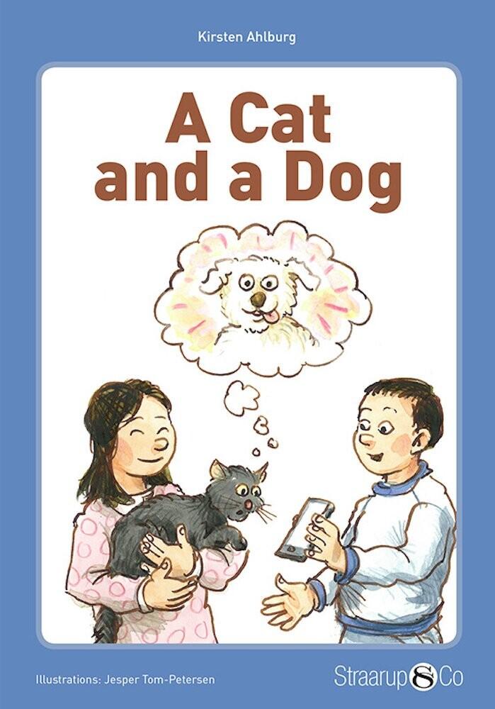 Image of   A Cat And A Dog - Med Gloser - Kirsten Ahlburg - Bog