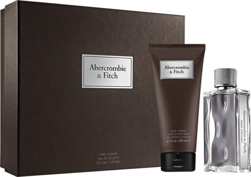 Image of   Abercrombie & Fitch Parfume - First Instinct Edt 100 Ml + Body Shower 200 Ml - Gavesæt