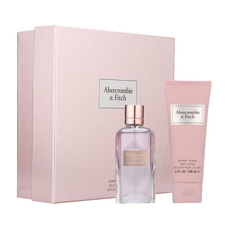 Image of   Abercrombie & Fitch - First Instinct For Woman Edp 50 Ml + Bodylotion 100 Ml - Gavesæt