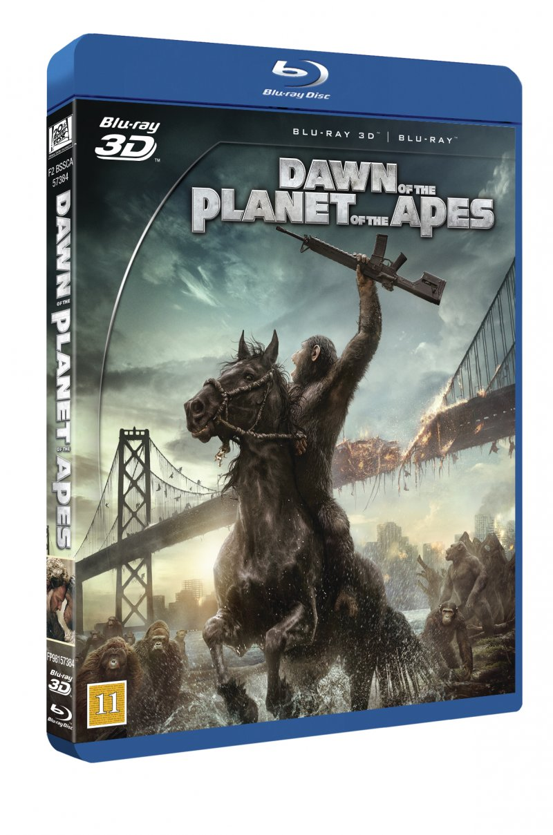Image of   Dawn Of The Planet Of The Apes / Abernes Planet Revolutionen (3d+2d Blu-ray) -