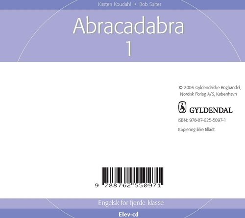Image of   Abracadabra 1 - Kirsten Koudahl - Bog