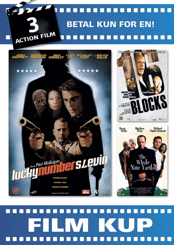 Image of   Lucky Number Slevin / 16 Blocks / The Whole Nine Yards - Action Film Box - DVD - Film