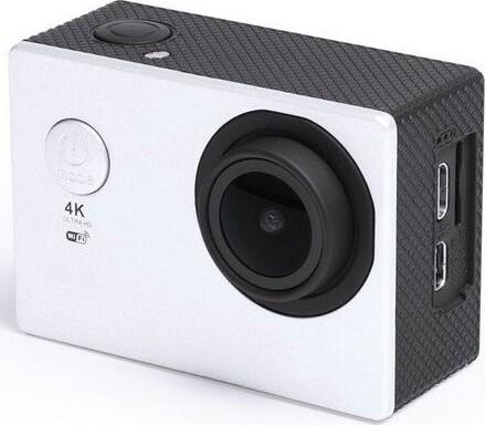 """Image of   Action Kamera Sæt - 4k - Wifi - 30 M Vandtæt - 2"""" Skærm - Hvid"""