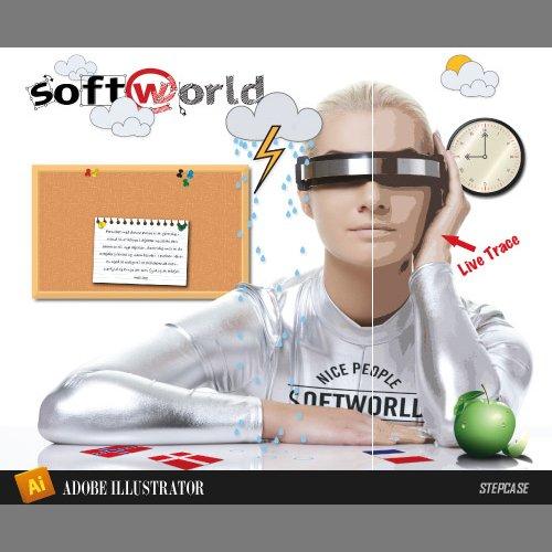 Image of   Adobe Illustrator - Softworlds Instruktører Præsenterer - Bog
