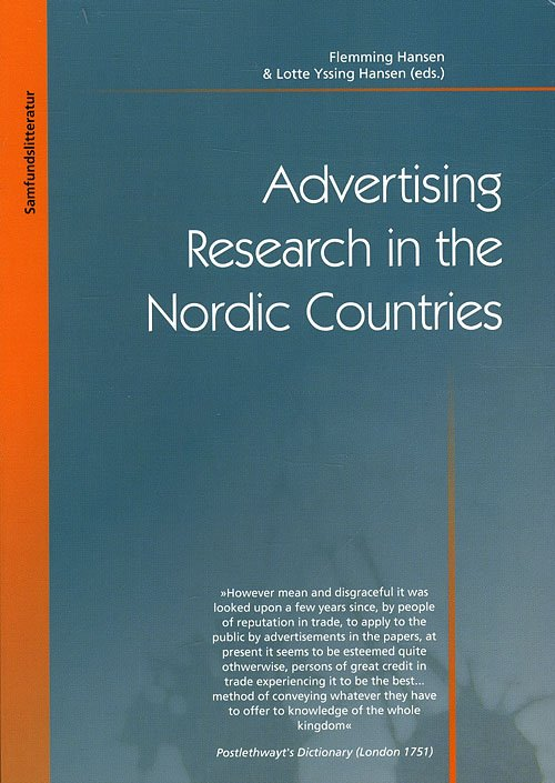 Image of   Advertising Research In The Nordic Countries - Flemming Hansen - Bog