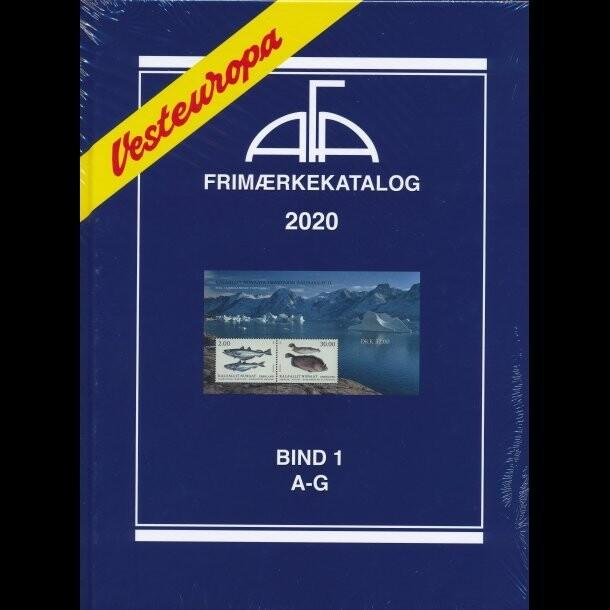 Image of   Afa Frimærkekatalog Vesteuropa 2020 - Bind 1 - Diverse - Bog